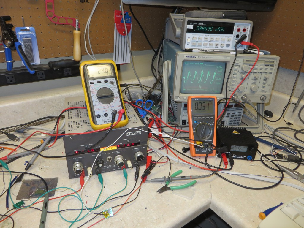 The test setup on my bench
